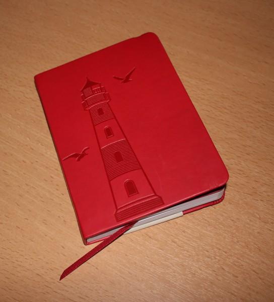Maritimes Notizbuch DIN A6 rot