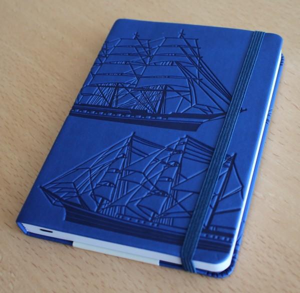 Maritimes Notizbuch DIN A6 blau